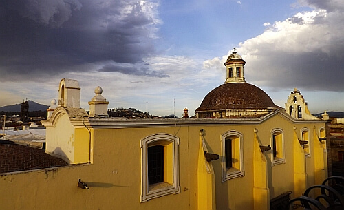 Puebla city view