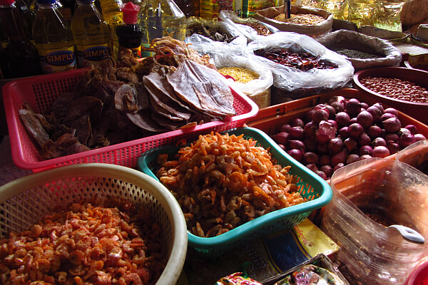 Cambodian food in market