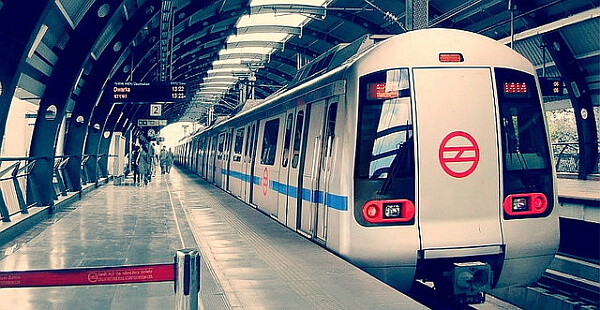 Delhi metro in India