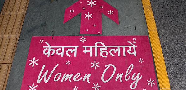 India travel women only metro car