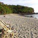 empty beach in central america