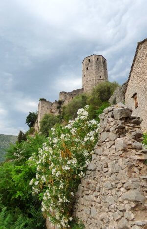 Pocitelj fortress founded in the 1400s near Mostar Bosnia