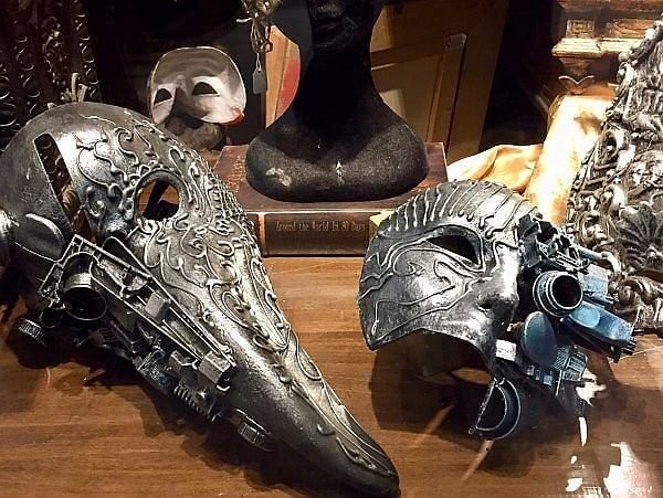 steampunk masks in Venice