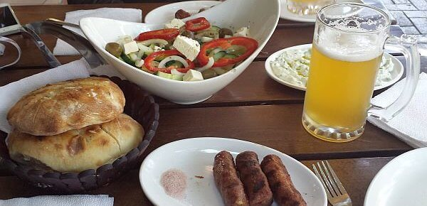 cheap lunch in Albania