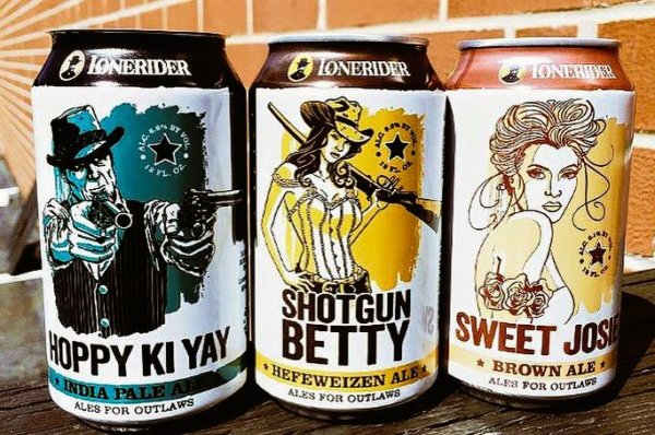 Lonerider brewing beer cans