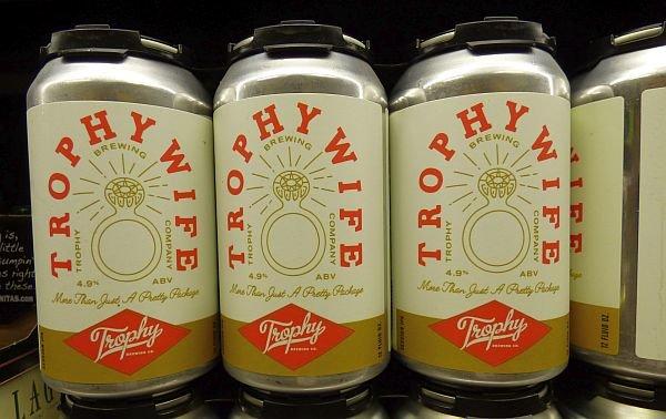 Trophy Wife beer can