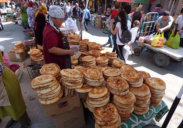 bread seller in capital of Kyrgyzstan