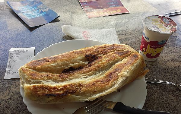 burek and yogurt in Montenegro