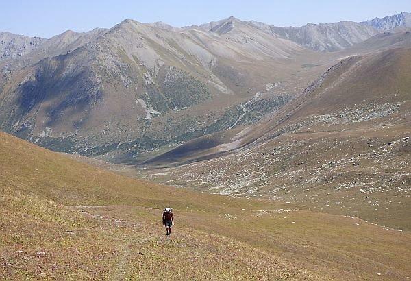 Kyrgyzstan trekking route