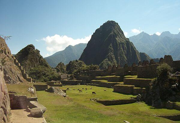 Machu Picchu at the end of Inca Trail or Salkantay Trek