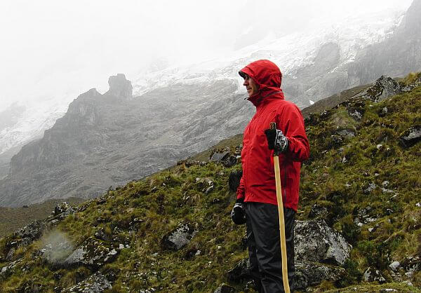 Summit of the Salkantay Trek in Peru