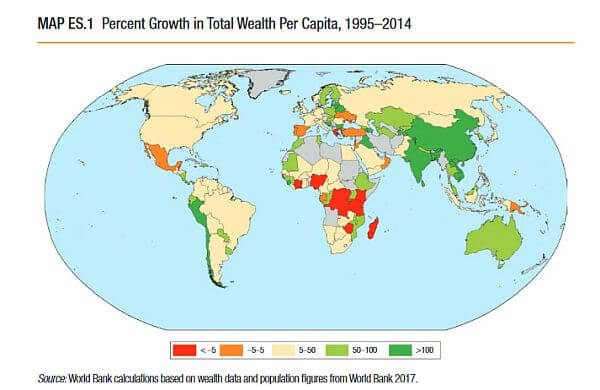 countries getting wealthier and therefore more expensive