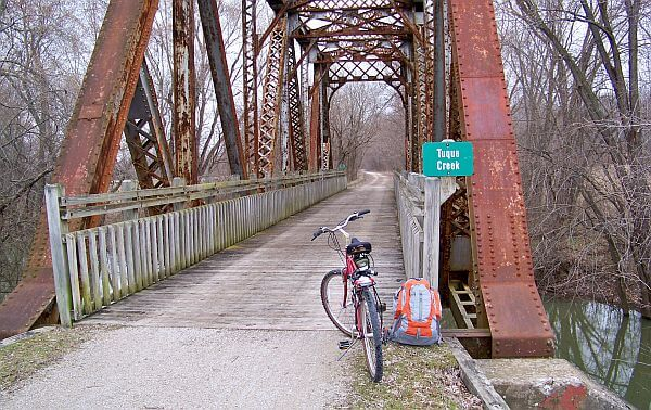 biking on the Katy Trail of Missouri
