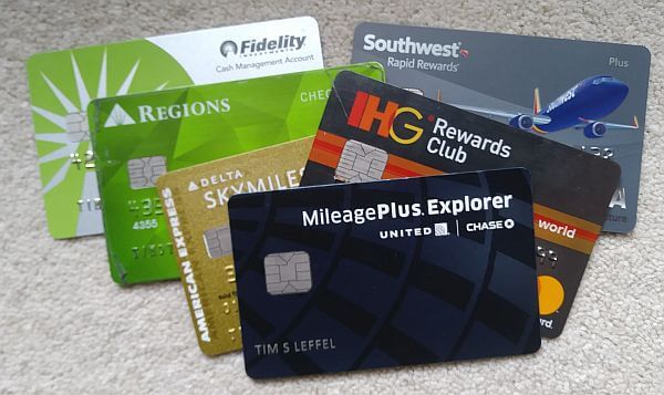 travel banking back-ups with multiple debit cards and credit cards