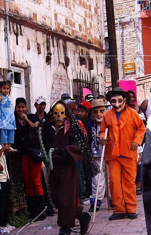 Local street festival in Guanajuato, all normal for Mexpats living here