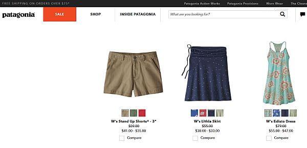Patagonia travel clothing sale