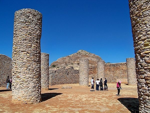 ruins near Zacatecas in Mexico on a tour