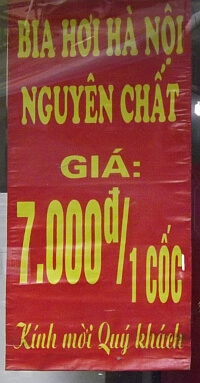 cheap beer in Vietnam