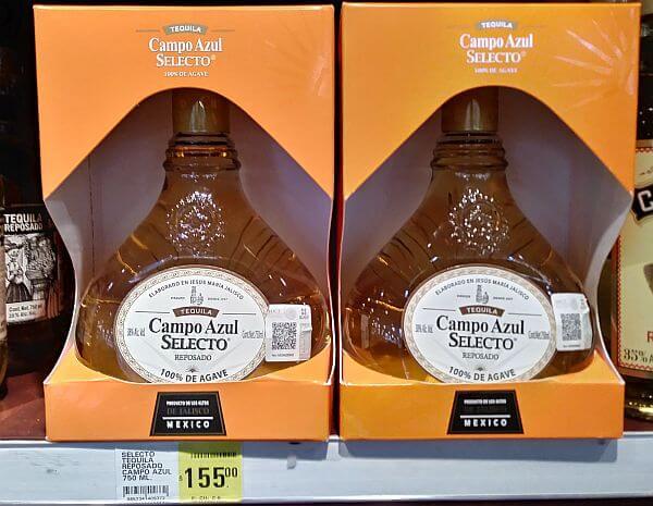 bargain tequila in Mexico Campo Azul
