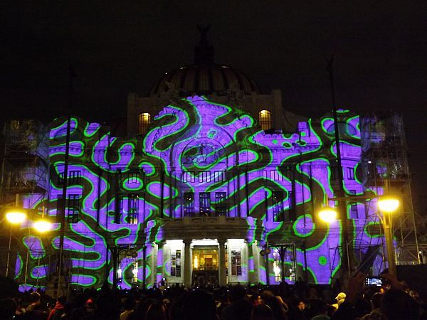 Festival of lights Bellas Artes