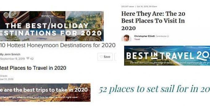 best travel destinations to visit 2020
