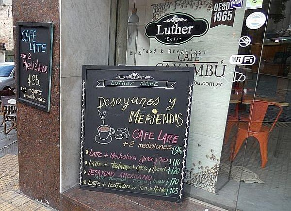 Argentine breakfast price in cafe