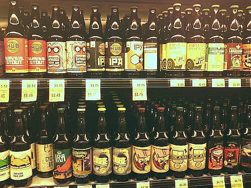 USA beer selection