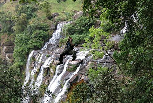 ziplining Laos