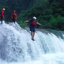 waterfall jump adveenture