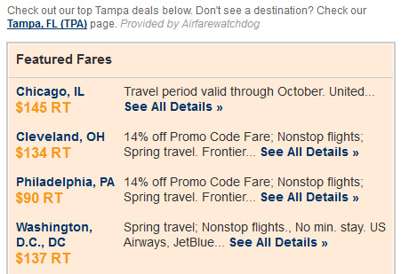 city airfare alerts