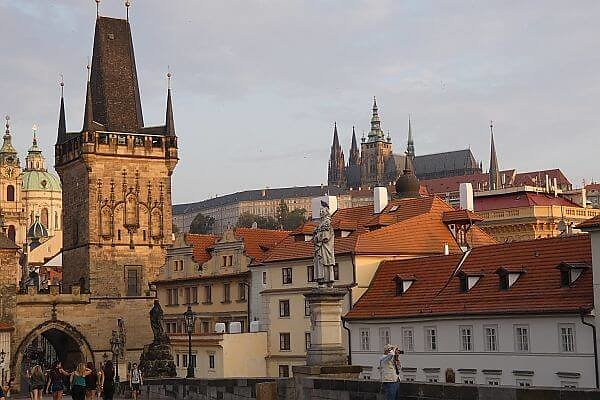 Prague Castle in the Summer tourist season when prices are high