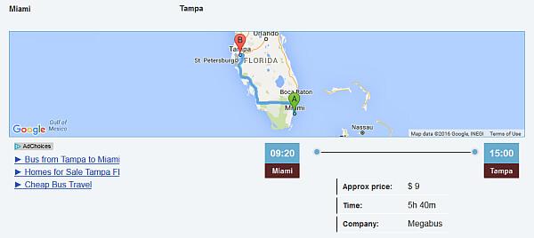 Miami to Tampa