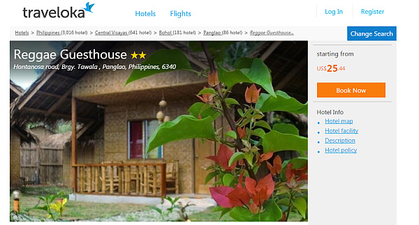 Traveloka hotel search