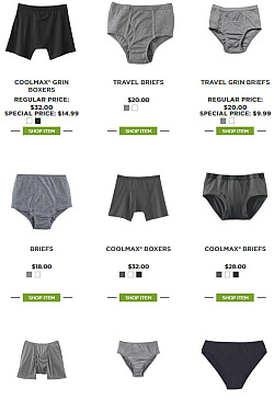 travel underwear from Canada