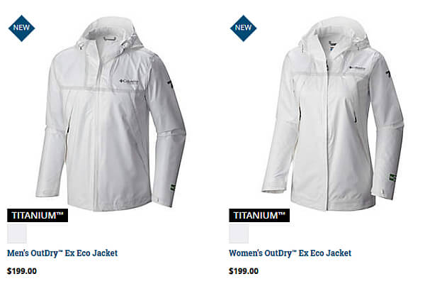 Columbia Ex Eco rain jacket men women