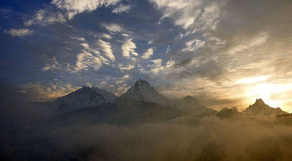 Nepal trekking mountains view