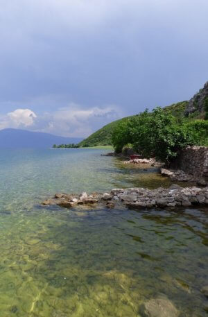 Lake Skadar in Albania, on the border with Montenegro