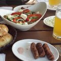cheap lunch in Albania with good beer