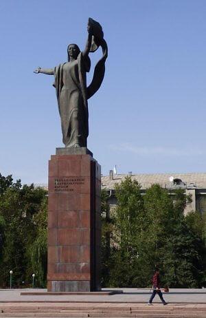 Urkuya Salieva monument Bishkek