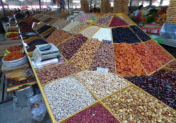 market stand in Bishkek