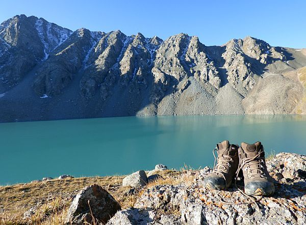 Oboz hiking boots in Kyrgyzstan