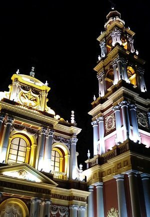 San Fransico church in historic center of Salta, Argentina
