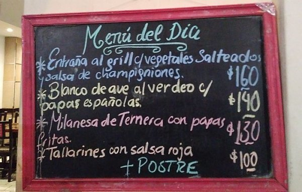 Dinner prices in Salta, Argentina for travelers