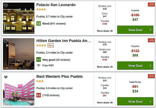 cheap hotel prices in interior Mexico