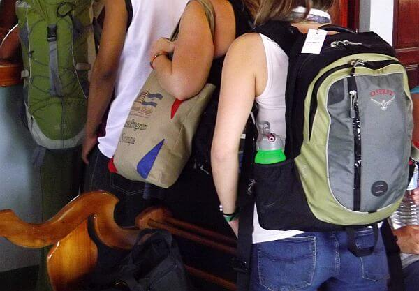 Osprey packs on backpackers