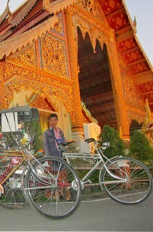Samlors in Thailand bicycle rickshaws Chiang Mai
