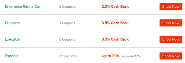 cash back from travel bookings with ebates