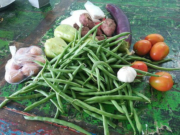 What US $2.30 gets you in Bali for vegetables
