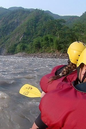 Whitewater rafting trip from Kathmandu, Nepal on the Trishuli River