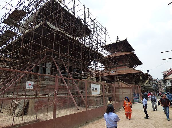 Patan Nepal in rebuilding mode